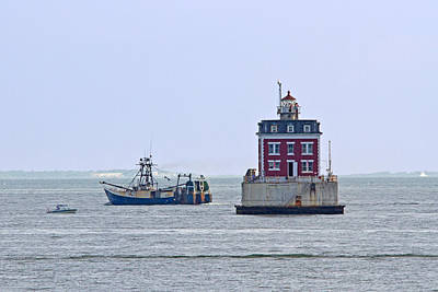 New London Ledge Lighthouse. Print by David Freuthal