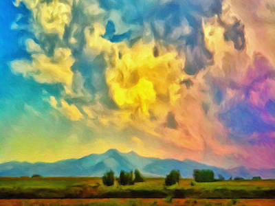 Las Cruces Painting - New Mexico Dawn by Dominic Piperata