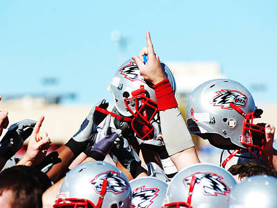 New Mexico Football Huddle Print by University of New Mexico Athletics