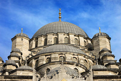 Sultanahmet Camii Photograph - New Mosque Domes In Istanbul by Artur Bogacki
