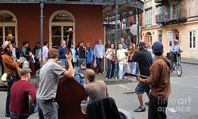 New Orleans Jazz Band Print by John  Kolenberg