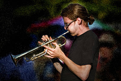 Photograph - New Orleans Trumpeter by Stephen EIS