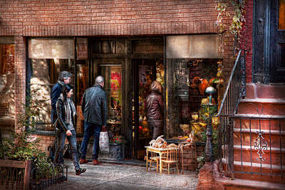 Vintage Photograph - New York - Store - Greenwich Village - The Gift Shop  by Mike Savad