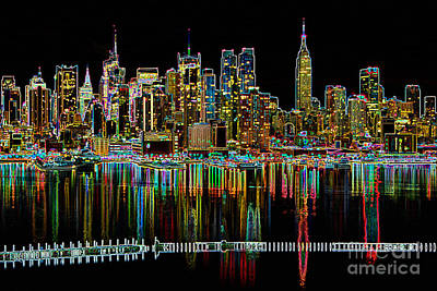 New York City Skyline Photograph - New York City Skyline Morning Twilight II by Clarence Holmes