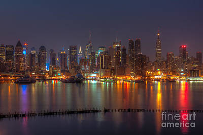 Empire State Building Photograph - New York City Skyline Morning Twilight Xiii by Clarence Holmes