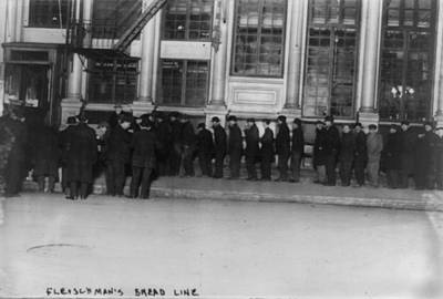 Bread Line Photograph - New York City, The Bowery, Bowery Men by Everett