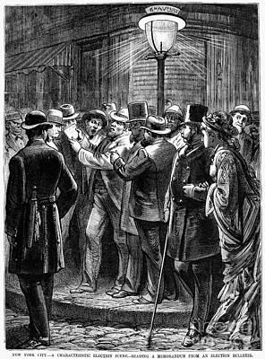 New York: Election, 1876 Print by Granger