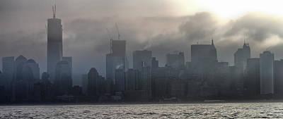 New York Fog Print by Farol Tomson