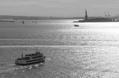 New York Harbor Print by Christian Heeb