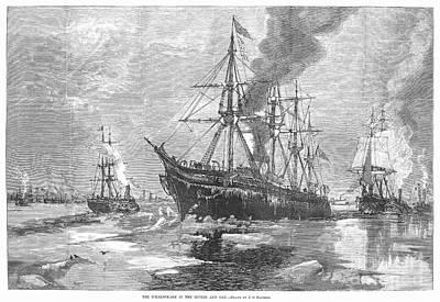 New York Harbor: Ice, 1881 Print by Granger