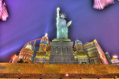 Justin Digital Art - New York In Las Vegas by Nicholas  Grunas