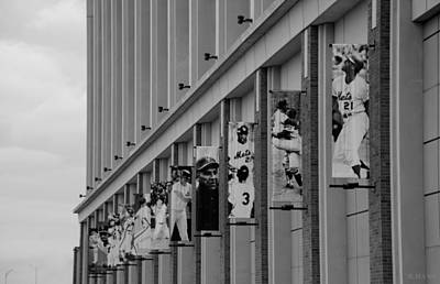 Stadium Scene Digital Art - New York Mets Of Old  In Black And White by Rob Hans