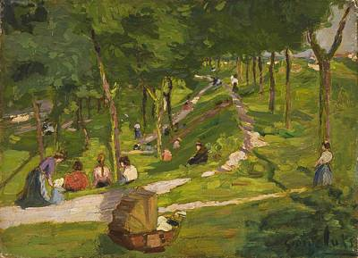 Pram Painting - New York Park by George Luks