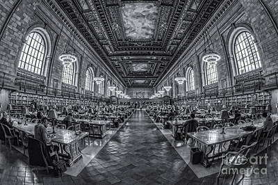 New York Public Library Main Reading Room Iv Print by Clarence Holmes