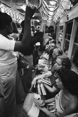 New York Subway. Passengers Commuting Print by Everett