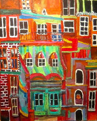 Litvack Painting - New York Tenement 2 by Michael Litvack