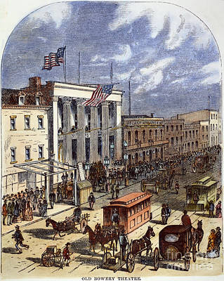 Bowery Photograph - New York: The Bowery, 1871 by Granger