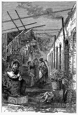Newark: Market, 1876 Print by Granger
