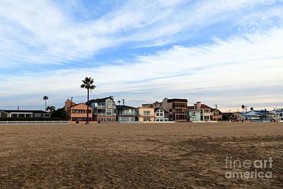 Newport Beach Oceanfront Houses Print by Paul Velgos
