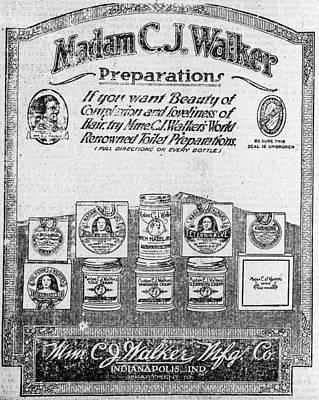 Newspaper Ad For Madam C.j. Walker Print by Everett