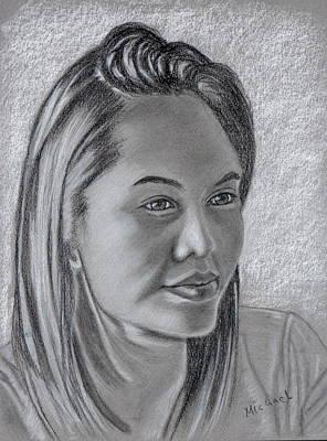 Pastel Drawing - Nida by Michael Brennan