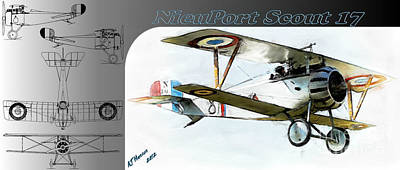 Airplane Photograph - Nieuport Scout 17 by Arne Hansen