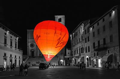 Night Balloon Print by Michael Avory