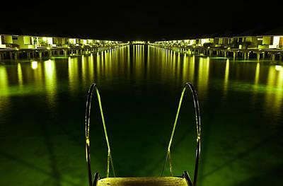 Night. One Day In Paradise. Maldives Print by Jenny Rainbow