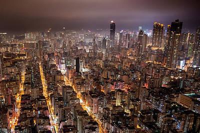 Hong Kong Photograph - Night View Of Kowloon by Ray Cheung