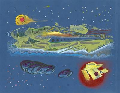 Nightworld Print by Ralf Schulze