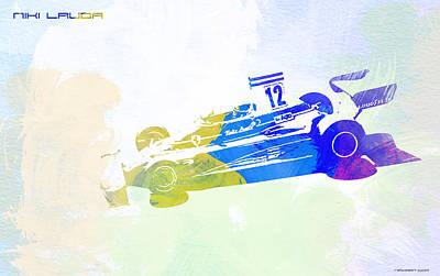 Torque Watercolor Painting - Niki Lauda by Naxart Studio