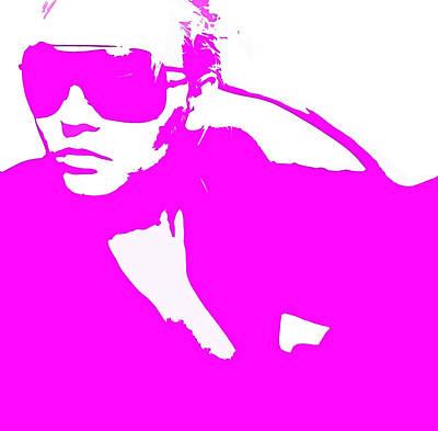 Girlfriend Digital Art - Niki Pink by Naxart Studio