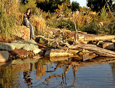 Senior Digital Art - Nikki's Day At The Pond by James Steele