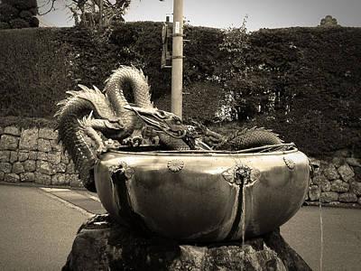 Shrine Photograph - Nikko Fountain by Naxart Studio