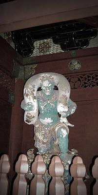 Buddhist Photograph - Nikko Green Figure by Naxart Studio