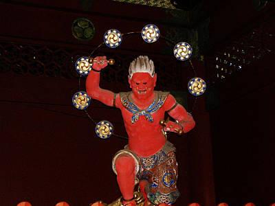 Traditional Photograph - Nikko Red Figure by Naxart Studio