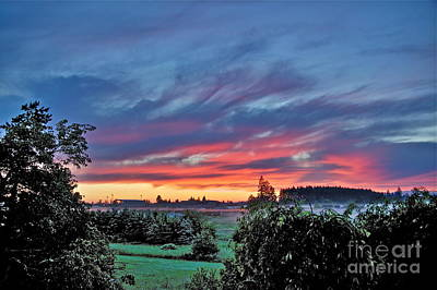Nisqually Valley Sunrise Print by Sean Griffin