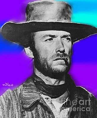 War On Drugs Painting - Nixo Clint Eastwood 1 by Nicholas Nixo