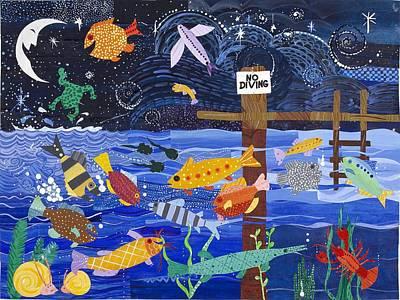 No Diving Print by Barbara Esposito
