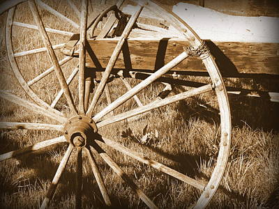 No Gas Needed Buggy Wheels Print by Cindy Wright