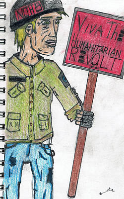 Occupy Drawing - No Hate by James Renick
