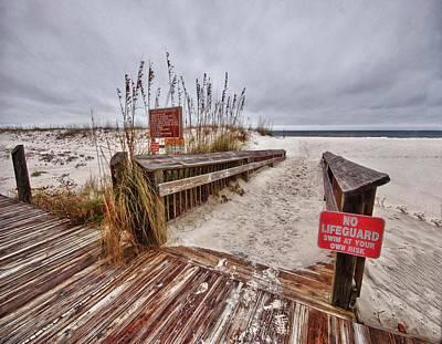 No Lifeguard Print by Michael Thomas