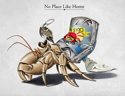 Crabs Digital Art - No Place Like Home by Rob Snow