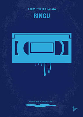 No070 My Ringu Minimal Movie Poster Print by Chungkong Art