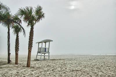 No.1 Foggy Beach Print by Michael Thomas