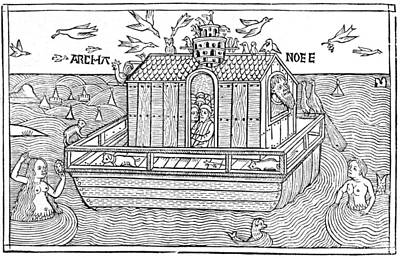 Noah's Ark, 16th-century Bible Print by King's College London