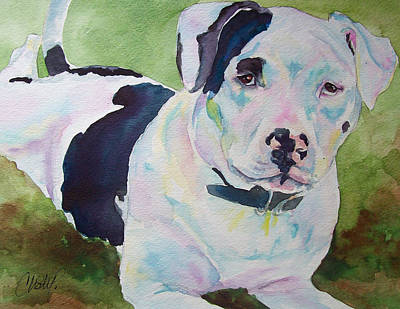 Pitbull Painting - Noelle Lilos Promise by Christy  Freeman