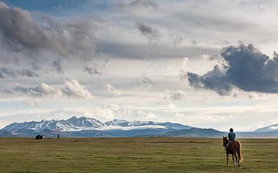 Horse Photograph - Nomads by Konstantin Dikovsky