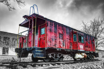 Brakeman Photograph - Norfolk Western Caboose 57558 by Steve Hurt