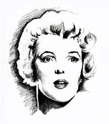 Norma Jean Drawing - Norma Jean by Christopher Martinez